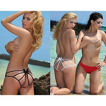 Passie lingerie Chica Bella Lycra Strap strik detail slipje