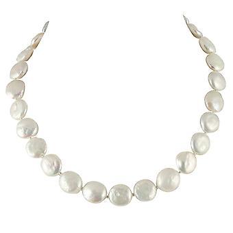 Ewige Sammlung Einfachheit natürliche Süßwasser Münze Perle Halskette