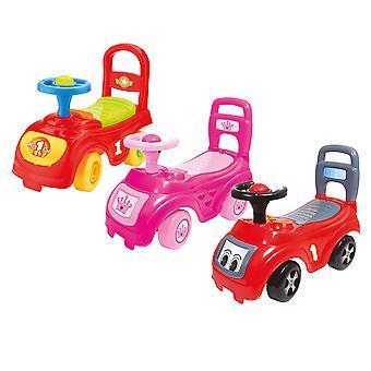 Charles Bentley Kid ' s Dolu Sit ' N' Ride push längs bil sätes förvaring i rosa/röd/flerfärgad-12 + månader