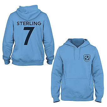 Raheem Sterling 7 Manchester City Style Player Kids Hoodie