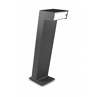 2 Light Outdoor Bollard Light Urban Grey Ip65