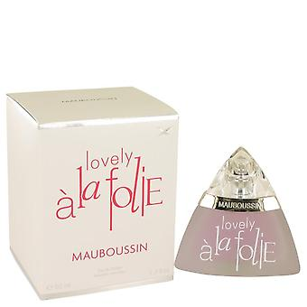 Mauboussin lovely a la folie eau de parfum spray by mauboussin 537154 50 ml