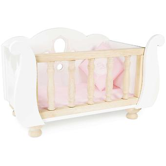 Le Toy Van Honeybake Play Sleigh Doll Cot