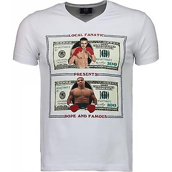 Golden Boy Vs Iron Mike - T-shirt - Wit