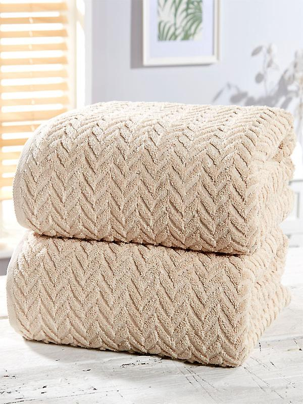 Herringbone 2 Piece Towel Bale Natural