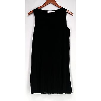 Einstellungen von Renee Front Pleated Tank Black A275075