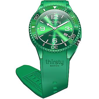 Thirsty wheat grass unisex watch for Unisex Analog Japanese Quartz with Silicone Bracelet BO-GRASS