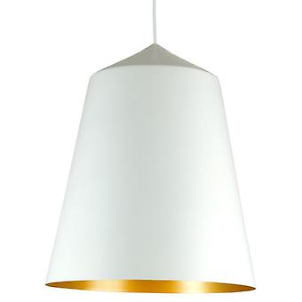 Wellindal Nuoli E27 60W 43x36cm aluminum white and gold lamp