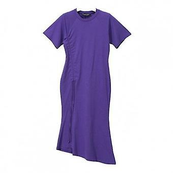 Drawstring verstellbare Empire Taille Bottom-Line Kleid