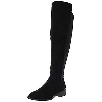 Material Girl Womens Darcell Faux Leather Knee High Riding Boots
