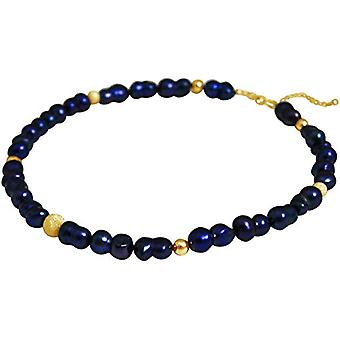 Gemshine Gold-plated Women's Pearl Necklace - CCahb2o
