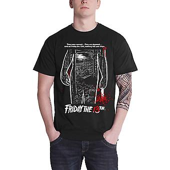 Friday The 13th T Shirt Bloody Movie Poster Jason new Official Mens Black