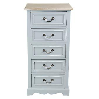 Charles Bentley Grey Loxley Vintage Solid Wood Chest Of Drawers 5 Dessin Tallboy