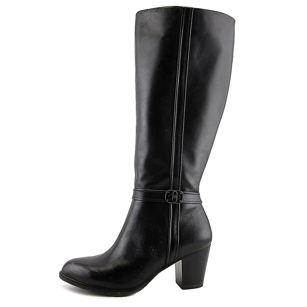 Giani Bernini Womens Raiven 2 Leder geschlossene Zehe Mode kniehohe Stiefel