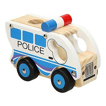Polizeiauto aus Holz