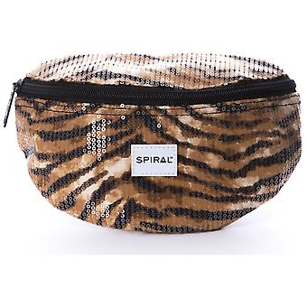 Spiral Sequins Bum Bag in Tiger
