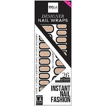 ncLA Los Angeles Instant Nail Fashion Designer Nail Wraps - Holding Onto Nothing (26 Wraps)