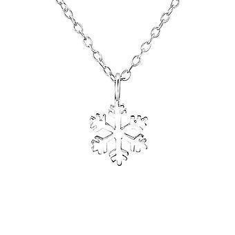 Sterling Srebrny Snowflake Charm Naszyjnik