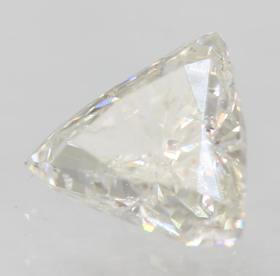 Certified 0.33 Carat D VS2 Triangle Enhanced Natural Loose Diamond 4.91x4.68mm