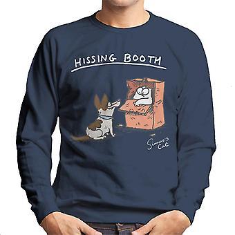 Simon's Cat Hissing Booth Men's Sweatshirt