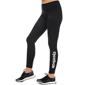 Womens Reebok Classics Essential Jersey Leggings In Black / White