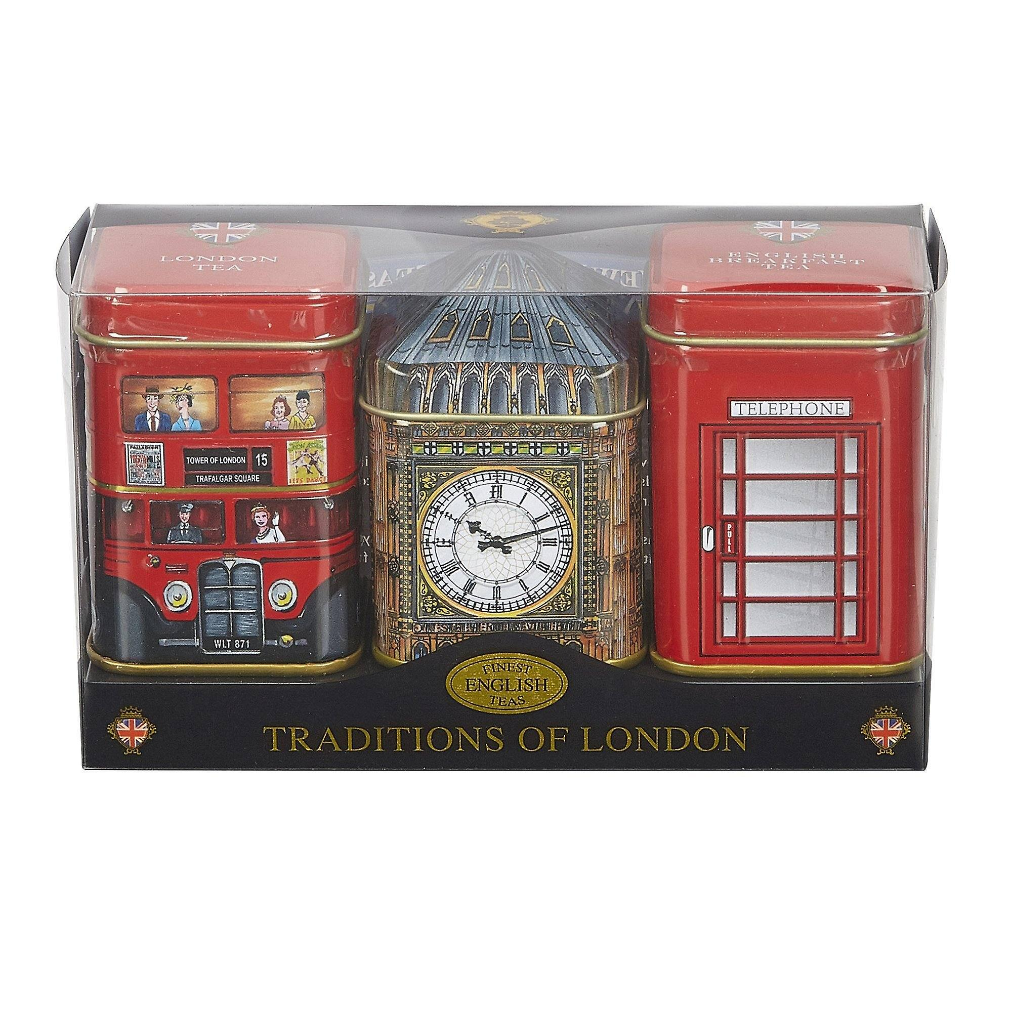 Traditions of london triple tea selection mini tin gift pack