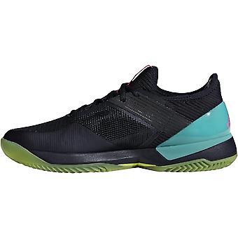 adidas Performance Womens Adizero Ubersonic 3 Clay Tennis Trainers Shoes - Blue