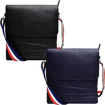 Lambretta Mens Cross Body Adjustable Shoulder Strap Casual Satchel Bag