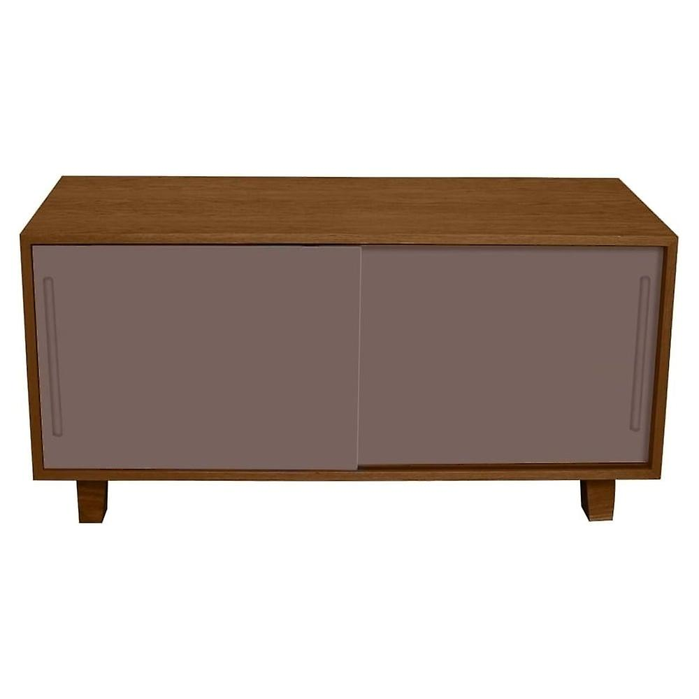 Fusion Living Modern Retro Walnut And Grey TV Table