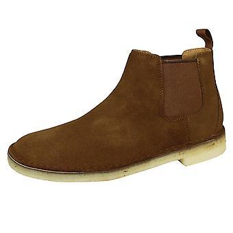 Clarks originals desert men's cola suede chelsea boots