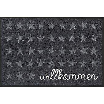 wash + dry mat welcome star 40 x 60 cm washable floor mat