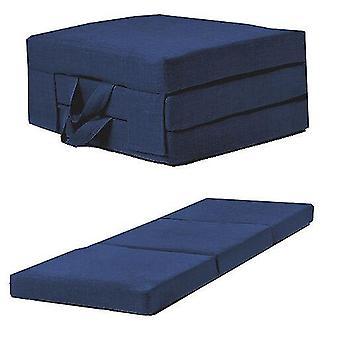 Blaue Leinen Effekt Einzelstuhl Z Bett Falten Futon Falten Schaum Gastmatratze