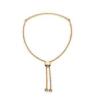 14k Rose Gold Thin Curve Tube Bolo Bracelet 9.50 Inch Jewelry Gifts for Women - 3.3 Grams