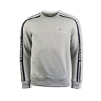 Tommy Jeans Branded Tape Sweatshirt (Light Grey Heather)