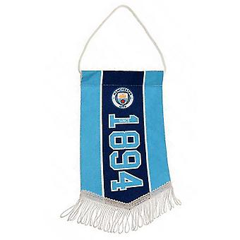 Manchester City FC Official Established Football Crest Pennant