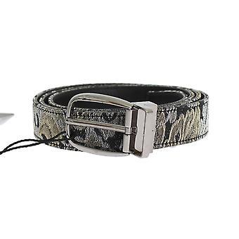 Dolce & Gabbana Zwart Lederen Brocade Belt