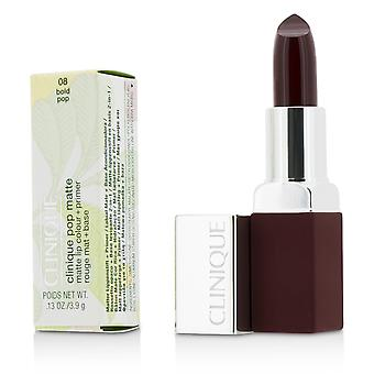 Pop Matte Lip Colour + Primer - # 08 Bold Pop 3.9g/0.13oz