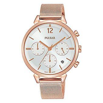 Pulsar Armbanduhr Chronograph Quarz Damen mit Edelstahl Armband PT3944X1