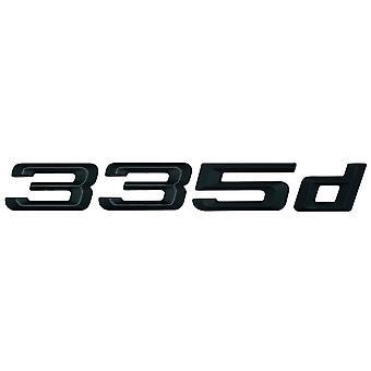 Matt Black BMW 335d Car Badge Emblem Model Numbers Letters For 3 Series E36 E46 E90 E91 E92 E93 F30 F31 F34 G20