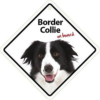 Magnet & Steel Señal Border Collie On Board con Ventosa (Dogs)