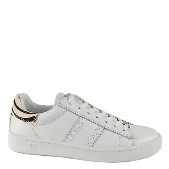 Philip Hog Serena White Leather With Zebra Pony Hair Trainer