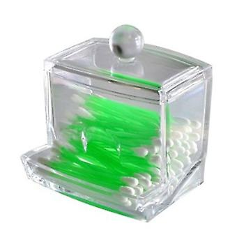 Acrylic Q-tip Cotton Swab Box - Toothpick Holder- Cotton Ball Storage Case - Cosmetic Makeup Pads Organizer Multi-purpose Container