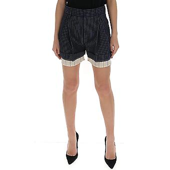 Chloé Chc20ush110634c3 Women's Blue Cotton Shorts