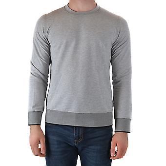 Paolo Pecora Ezbc059061 Men's Grey Cotton Sweatshirt