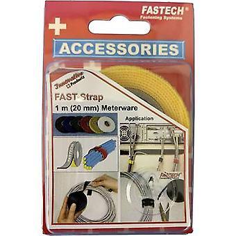FASTECH® 910-750C Cinta de gancho y bucle para la agrupación Gancho y almohadilla de bucle (L x W) 1000 mm x 20 mm Amarillo 1 m