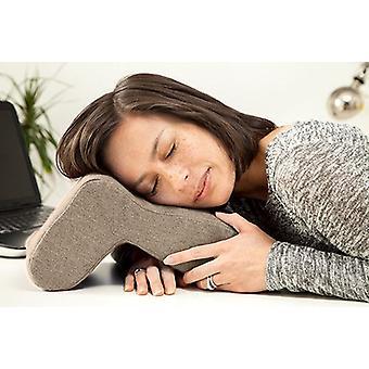Latte Nora Nap Overal Kussen Hoofd Kussen Desk Sleeping Travel Neck Ondersteuning