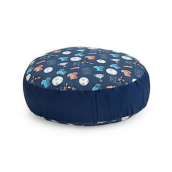 Ready Steady Bed Design Kids Giant Round Floor Cushion | Soft Play Kind Veilig | Peuter Speelkamer woonkamer (Kampioen)