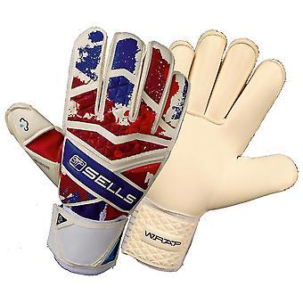 SELLS Pro Wrap Union Jack Goalkeeper Gloves Size