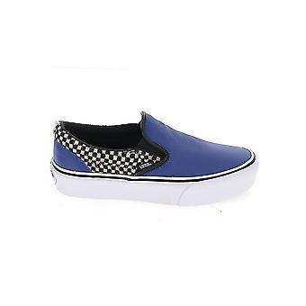 Vans Vn0a3jezv9p1 Men's Blue Fabric Slip On Sneakers