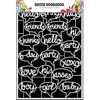 Dutch doobadoo Dutch Paper Art text balloonbirds - A5 472.948.040